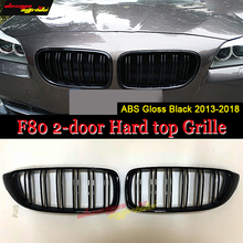 1 Pair F80 2-door Hard top Front Grille ABS Gloss Black M-Style 420i 428i 430i 435i 2-Slats Kidney 2013+