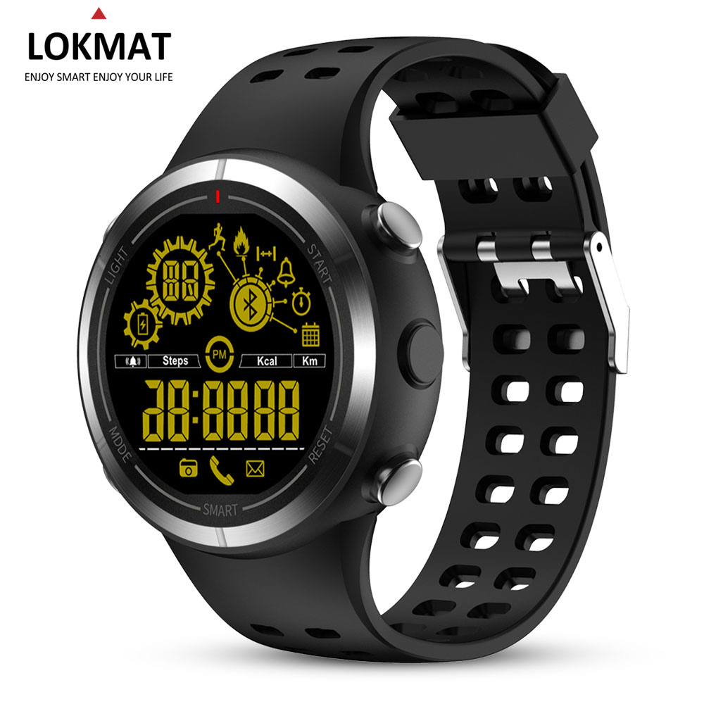 LOKMAT Sport Smart Watch Pedometer Waterproof bluetooth Message Reminder Men Outdoor SmartWatch For IOS Android Phone