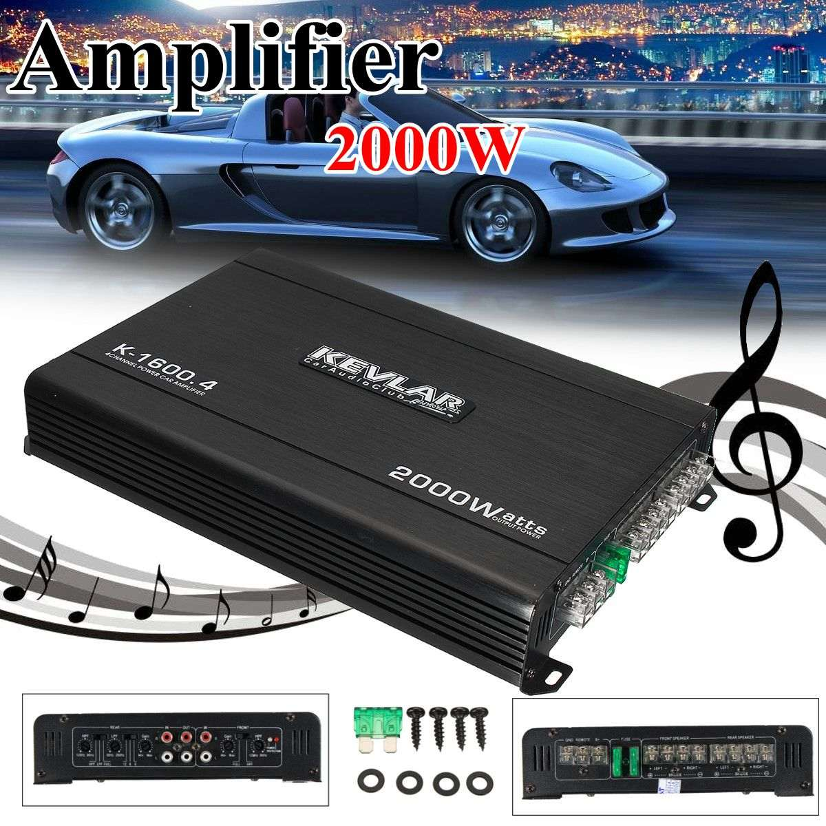 4 Channel Car Amplifier Audio 2000w 12dB High Power Car Amplifiers High Power for car home black 12v car amplifier high power 1900w audio 4 channel 4 way amplifiers booster auto free shipping dropping