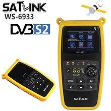 Orijinal Satlink WS 6933 dijital uydu bulucu Sat metre DVB S2 Satfinder 2.1 inç LCD ekran FTA C & KU WS 6933 WS6933 DVB S2