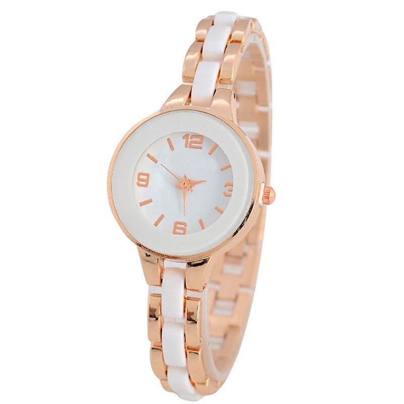 Women Quartz Casual Bracelet font b Watches b font Laides Fashion Wristwatch Luxury Casual Simulated Ceramic