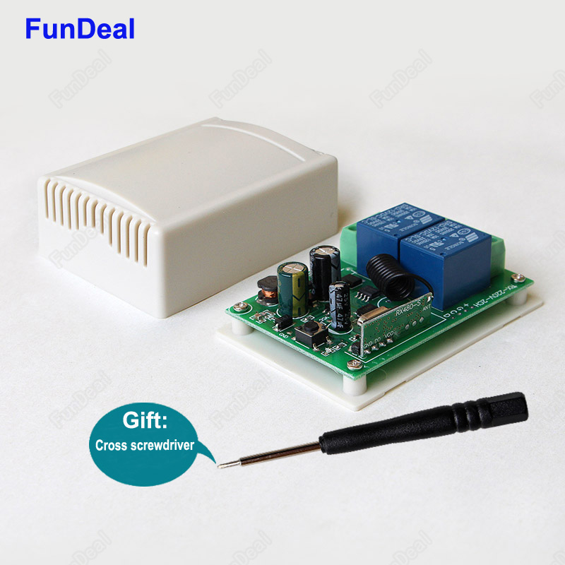 08c608552f8 433 Mhz Universal 2CH relé inalámbrico RF interruptor de Control remoto AC  85 V 250 V 220 V 110 V Módulo de circuito integrado en Mandos a distancia  de ...
