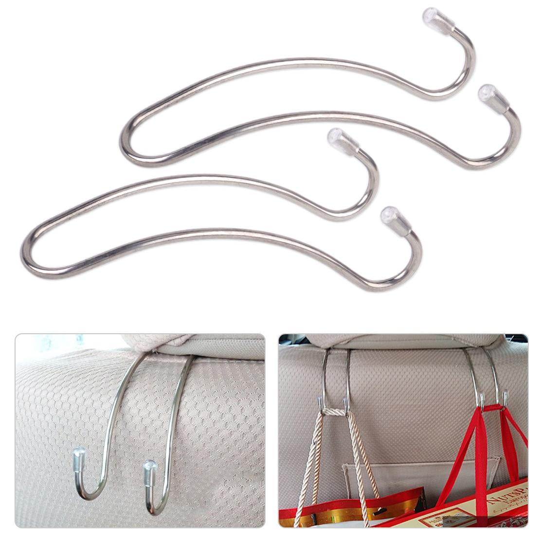 Automobiles & Motorcycles Interior Accessories Dwcx 2pcs Beige Fashion Portable Car Auto Seat Hanger Purse Bag Organizer Holder Hook Headrest For Vw Audi Ford Kia Hyundai