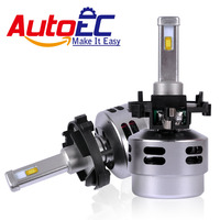 AutoEC Car H7 LED Headlight Kit H7LL 80w 4500lm High Power LED Hi Lo Beam Head