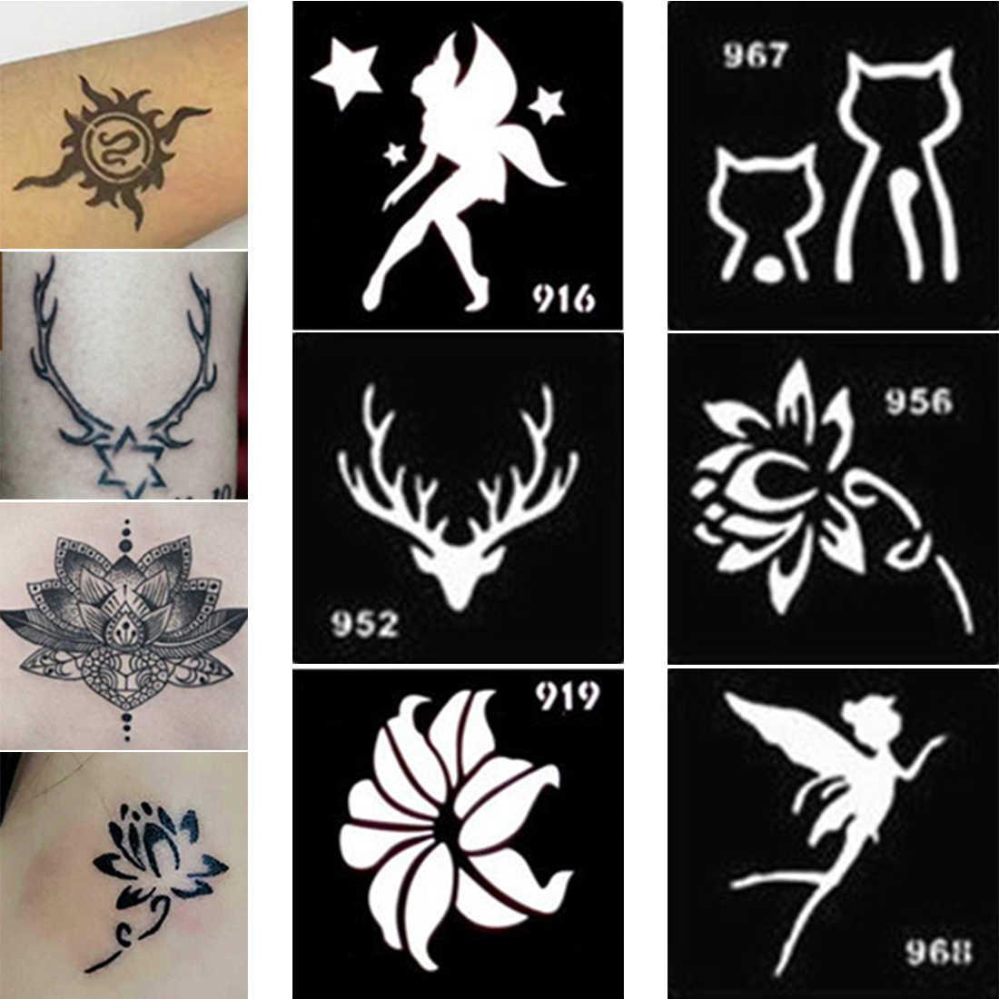 10 個タトゥークリーム手クリーム特別なテンプレートヘナタトゥー型 diy ペイント一時的な刺青インドタトゥーテンプレート