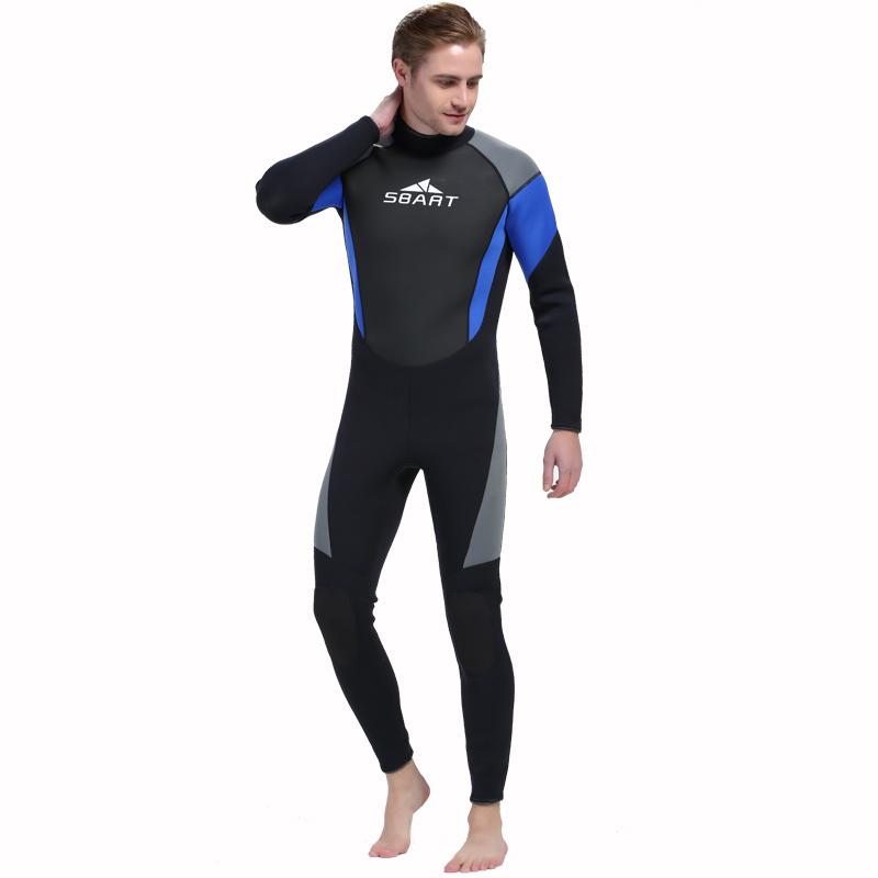 SBART 3MM Neoprene Wetsuit Men Winter Keep Warm Swimming Surfing Long Sleeve Thicker Scuba Diving Swimming Wet Suit sbart 2mm neoprene wetsuit men winter keep warm swimming scuba diving wet suit long sleeve triathlon wetsuit for surf snorkeling