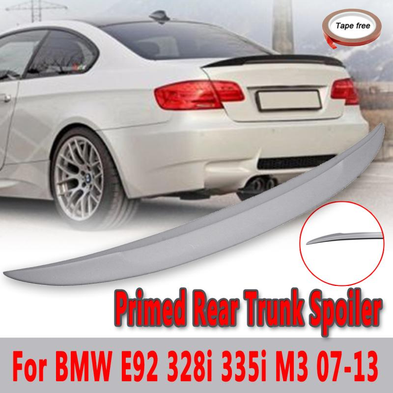 Rear Trunk Lid Spoiler Primed Unpainted Wing Fits For 2007 2013 for BMW E92 328i 335i M3 Performance Auto Replacement Par