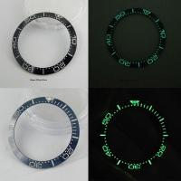 3 pieces /4 pieces 38mm Super Luminous Blue / Black Ceremic Bezel Ring Fit for 40mm Automatic Men's Watch
