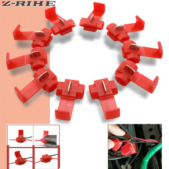 10 Pcs/set Wire Crimp Terminals Connector Quick Splice Wiring Cable Clamp Red Connection Wholesale Maintenance Tools image