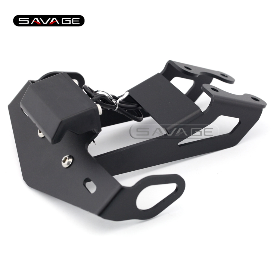 For YAMAHA MT-15 MT15 M-SLAZ 2015-2016 Motorcycle Tail Tidy Fender Eliminator Registration License Plate Holder with LED Light motorcycle tail tidy fender eliminator registration license plate holder bracket led light for ducati panigale 899 free shipping