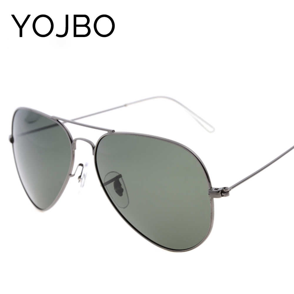 YOJBO Polarized Sunglasses Men Pilot Brand Designer Mirror Sun Shades Glasses for Women Luxury UV400 Cool Vintage Ladies Eyewear