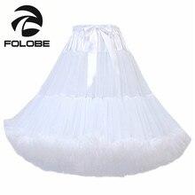 FOLOBE Dancewear Performance Tutu Skirts Tulle Skirt Knee Length Party Prom Underskirts Women Adult tutu Faldas Saias Femininas