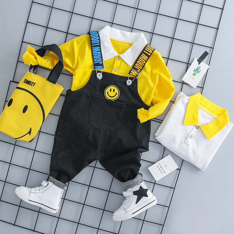 baby boy clothes 2pcs set 2018 Autumn New Fashion overall suit full sleeve coat 18050 girls sets