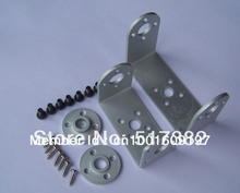 Free shipping 5 set lot Robot servo spare parts Metal U holder round servo mount Bracket