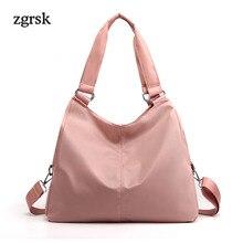 Luxury Handbags Women Ladies Top-handle Bags Designer Satchel Nylon Solid Zipper Hand Bag Handbag Red Business Bolsa