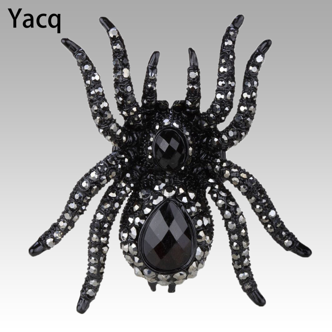 YACQ Spider Brooch Pin Pendant Halloween Christmas Party Jewelry Gifts Decoration for Women Girls Her Wife Mom BA12 Dropshipping halloween party supplies paper spider lantern decoration