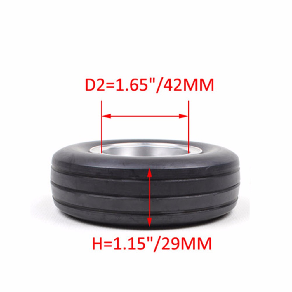 1 Sert 3.5 inch Rubber Wheel with Brake Rubber Tire for RC Aircraft RC AIrplane Model Accessory Parts rc airplane 1 75in 48mm d48 h17 3mm rubber wheel with cnc aluminum hub