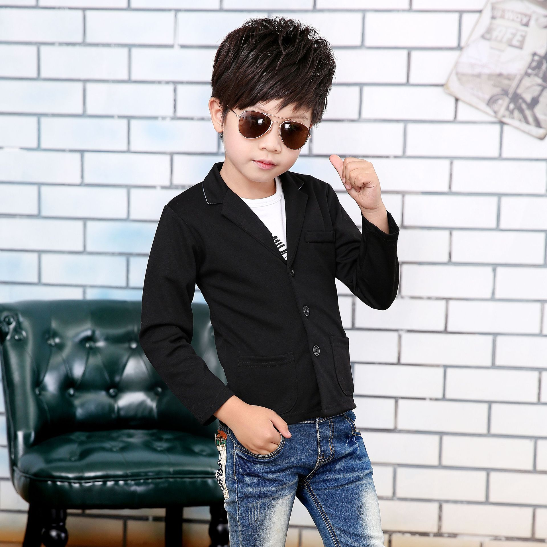 Boys blazer kids Spring gentleman Formal Suit baby boys clothes