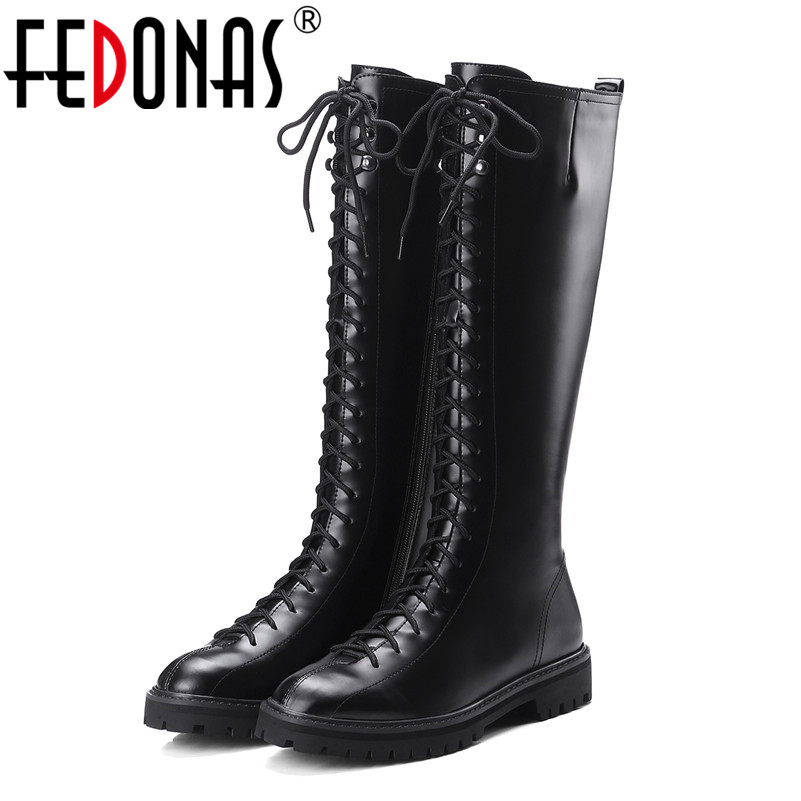 FEDONAS Punk Sexy Women Knee High Boots Low Heels Autumn Winter Fashion Warm Party Dancing Shoes Woman Tight High New Boots 2014 autumn and winter fashion women s knee high boots warm boots flat shoes sexy high boots women s boots xy086