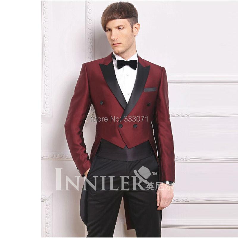 Popular Burgundy Tuxedo-Buy Cheap Burgundy Tuxedo lots from China