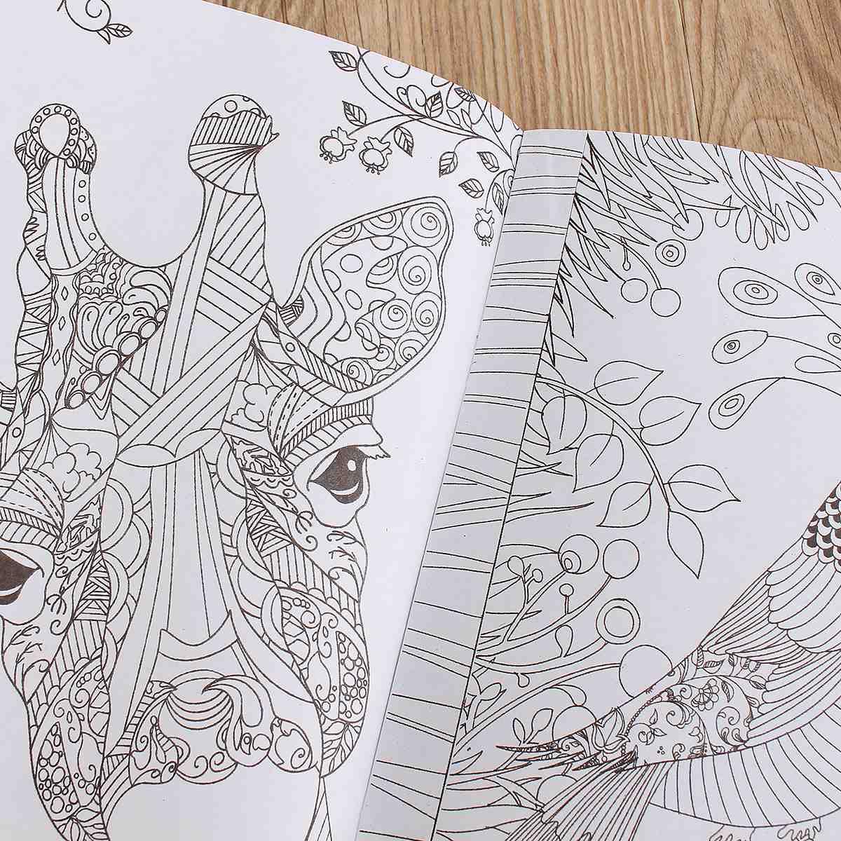 Зачарованный лес взрослых английский граффити раскраски для детей живопись Книги образования Игрушки для рисования подарок для детей