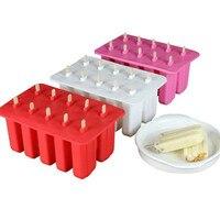 Silicone Popsicle Moules Crème Glacée Bâtons pour Cuisine Moule ice cube maker candy bar congelés pâtisserie glace genie silikon forme