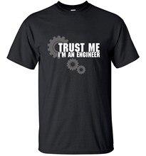 Moda confie em mim humor eu sou um engenheiro streetwear algodão homem t-shirts dos homens topos t marca superior magro roupas mma esportes
