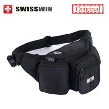 Swisswin Gürteltasche für Frauen Taille Tasche Schwarz Zip Pouch geld pouch motorrad gürteltasche hüfttasche für iphone 6 s PLUS