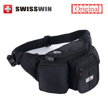 Swisswin Fanny Pack for Women Waist Bag Black Zip Pouch Money Pouch Motorcycle Fanny Pack Waist Pack FOR IPHONE 6S PLUS