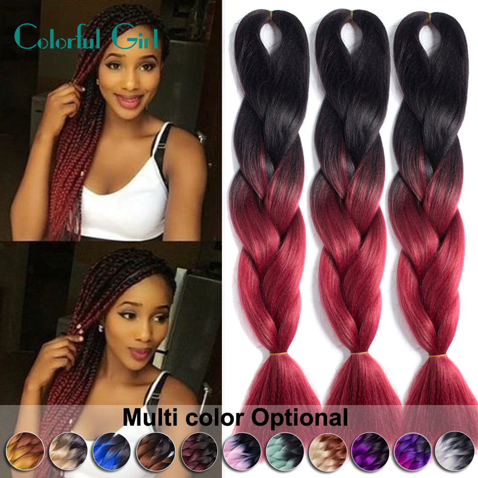 24 Kanekalon Braiding Hair Colors Auburn Burgundy Blonde Freetress Crochet Braid Box Braids 1 10packs Synthetic On Aliexpress Alibaba