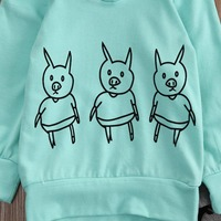 2pcs suit !!! Newborn Cartoon Baby Girl Boy cartoon Pig printed Hoodies+Long Pants Outfits Clothes Set