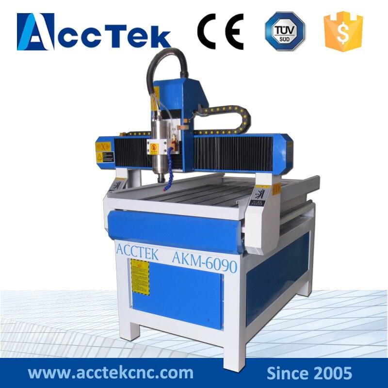 Acctek good quality cnc machine mini,Mach 3 system, acctek mini cnc desktop engraving machine akg6090 square rails mach 3 system usb connection