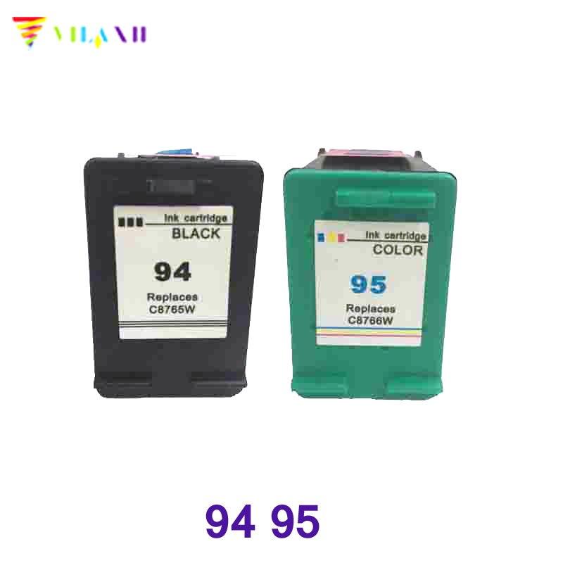Vilaxh substituição do cartucho de tinta compatível Para HP 94 95 Psc Deskjet 5740 6540 6840 5440 1610 1510 2350 2355 Officejet h470 150