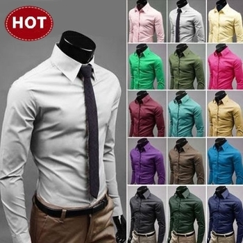 2019 Mens Slim Fit Unique Neckline Stylish Dress Long Sleeve Casual Shirts Mens Shirt Camisa Camisas Masculina Turn-down Collar 1