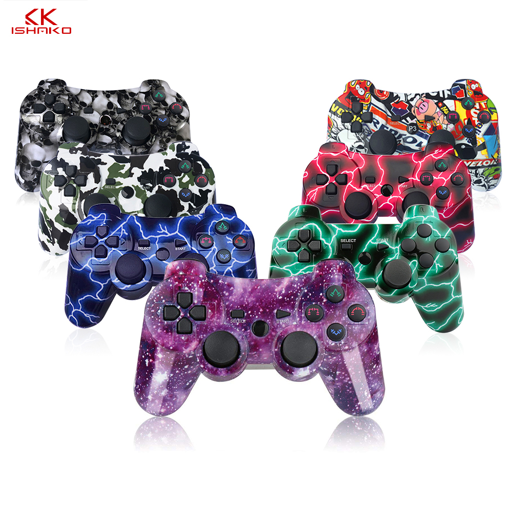 K ISHAKO Bluetooth Controller For SONY PS3 Gamepad For Play Station 3 Wireless Joystick For Sony Playstation 3 Console