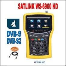 Satlink ws-6960 livraison dhl dvb s2 4.3 pouce écran HD DVB-S2 HD MPEG4 satlink 6960 Satellite Finder Compteur satlink 6960
