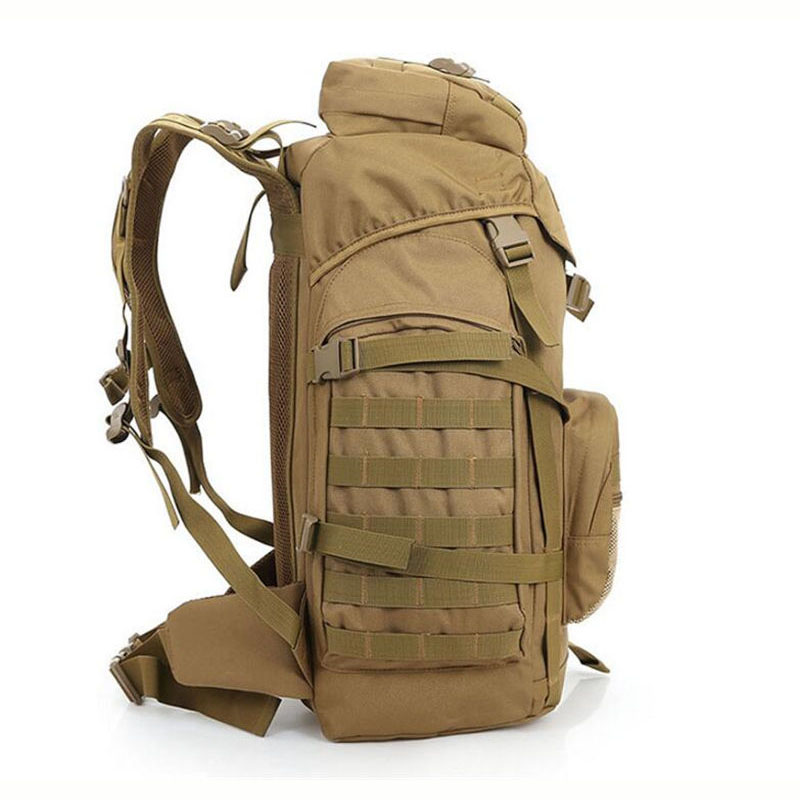 Molle 60L Camping sac à dos tactique sac à dos militaire grands sacs à dos imperméables Camouflage randonnée sacs d'armée en plein air XA281WA - 2