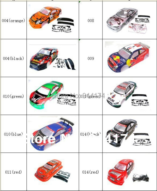 1/10 rc car body shell  for 1:10 R/C racing car 190mm  henglong  2pcs/lot   free shipping