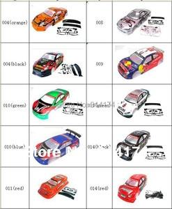Image 2 - Yukala 1/10 rcカーボディシェル 1:10 r/cレーシングドリフト車 190 ミリメートルhenglong 2 ピース/ロット