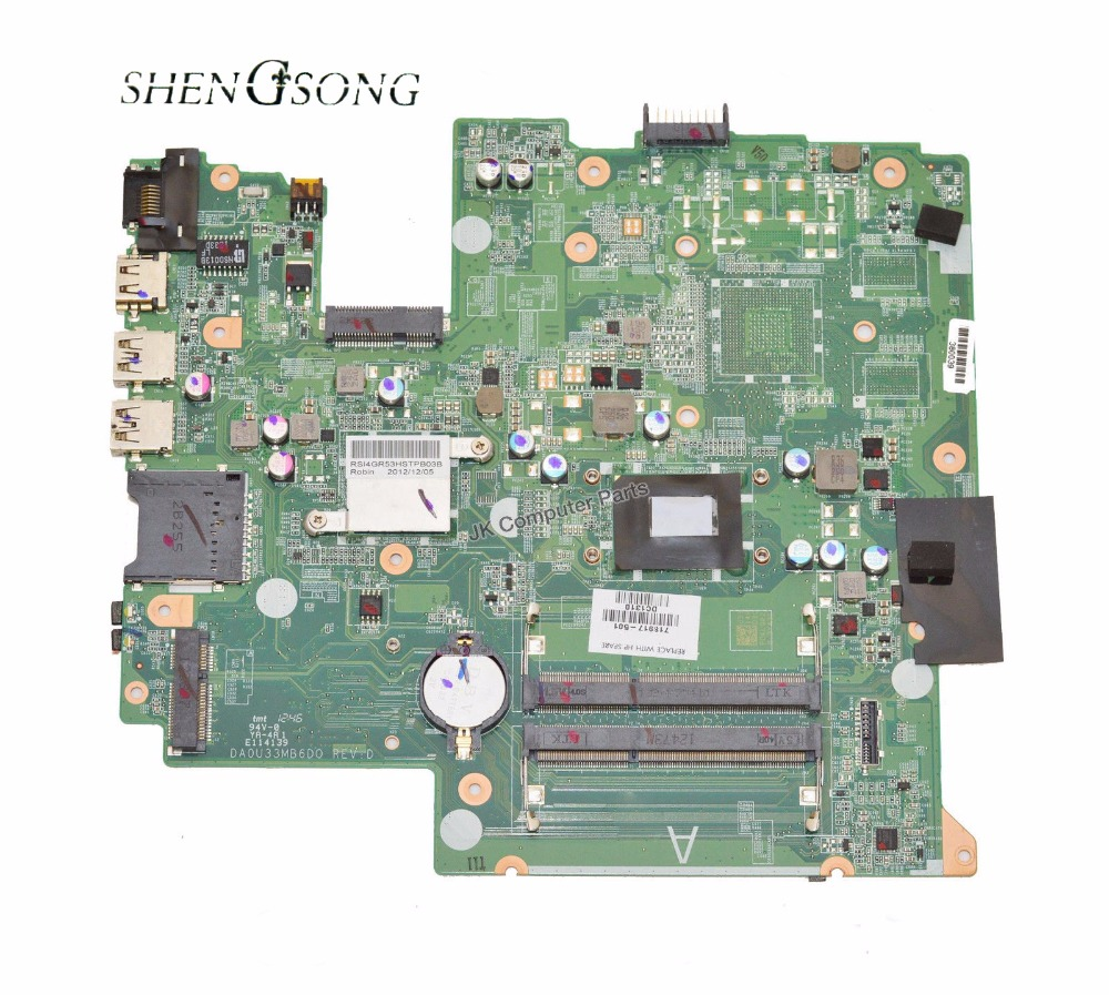 718917-001 Free Shipping 718917-501 motherboard for HP Sleekbook 14 14-B Laptop Motherboard i3-2375M Tested working nokotion for hp sleekbook 14 b laptop motherboard 714618 501 715866 501 da0u33mb6d0 with i3 2367m cpu onboard