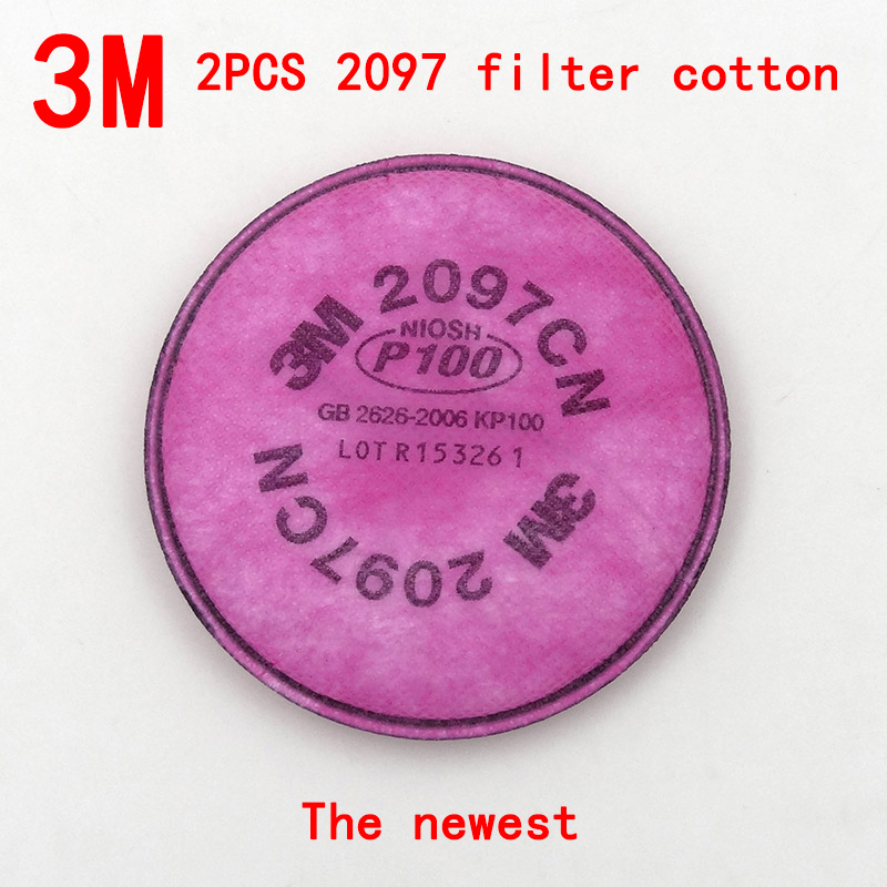 <font><b>3M</b></font> 2097 Genuine respirator filter 2PCS Original production Anti-particulate matter Breathe filter cotton <font><b>6000</b></font>/7000 series filter image