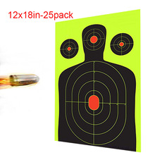 цены shooting Targets - 12 x18 inch - Silhouette Reactive Shooting stickers -  Gun - Rifle - Pistol - AirSoft - BB Gun - Air Rifle