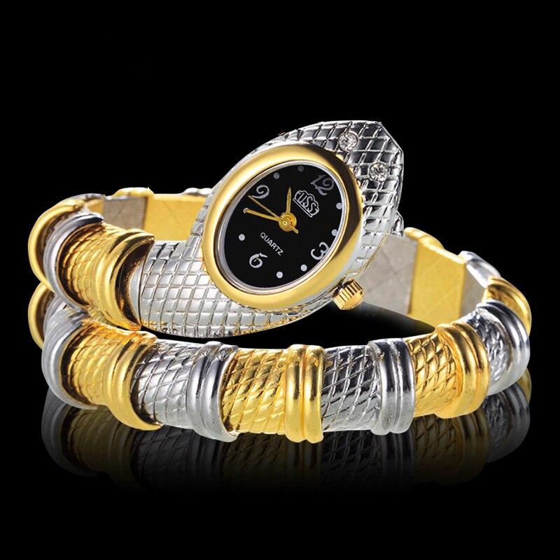 Einzigartige Mode Armbanduhr Schlange Geformt Armband Damen Uhr Frauen Uhren frauen Uhren Uhr zegarek damski reloj mujer