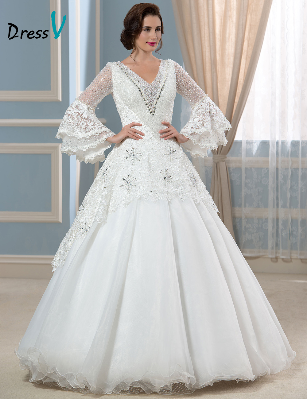 buy luxury muslim long sleeves lace wedding dresses vintage euro style real. Black Bedroom Furniture Sets. Home Design Ideas