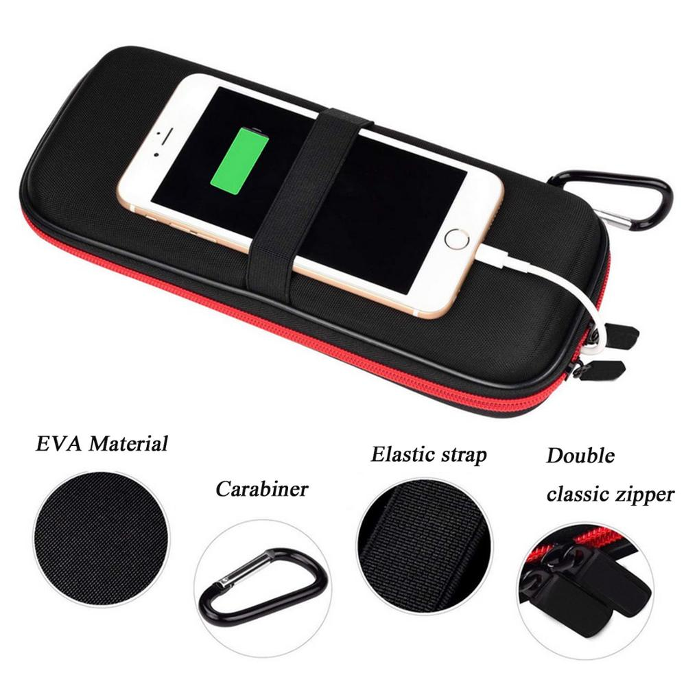 Travel Hard Power Bank Case EVA Shockproof Carrying Bag Pouch Storage Box with Carabiner for Anker AUKEY Rock External Battery
