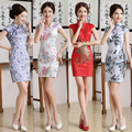 2016 winter ladies short sleeve sexy cheongsam qipao dresses cheongsam vestidos party evening dress chinese tradition