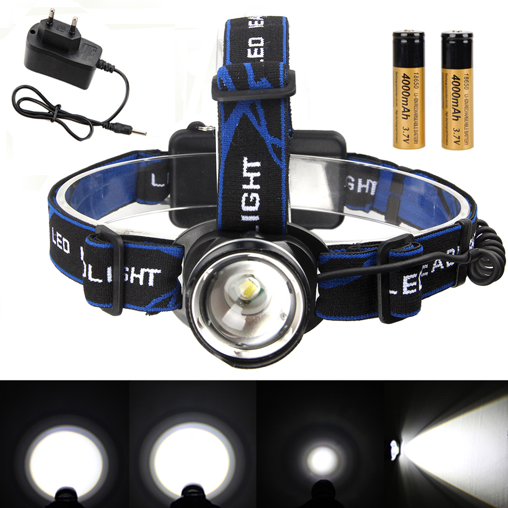 5000LM 3 Modes 5 LED Waterproof Headlight Headlamp Zoomable Torch NEW