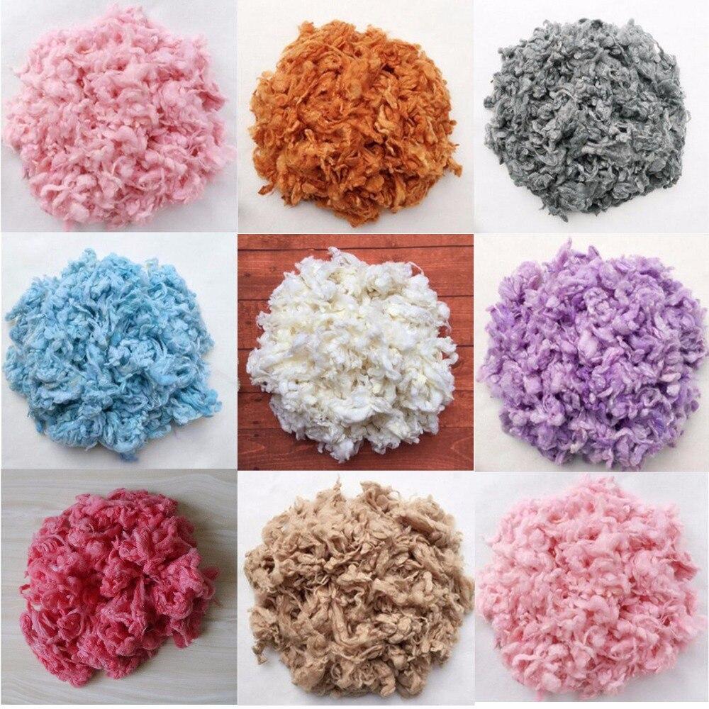 100g pc newborn photo prop sale basket filler loose wool fluff basket stuffer newborn photography prop