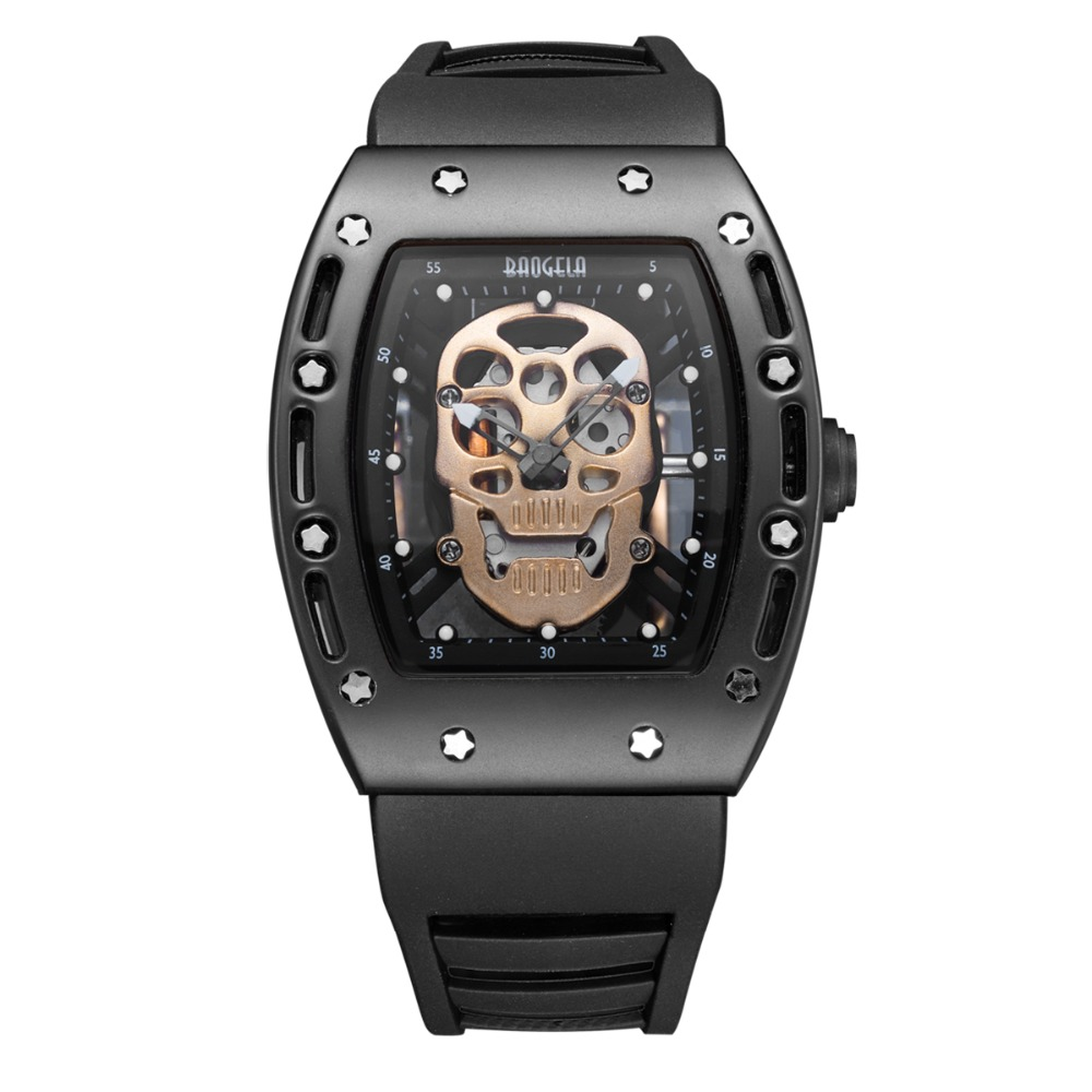 fashion New Skull Men Watches Military Silicone Brand Pirate Hollow Watch Men Luminous Wateproof Wristwatch Relogio Masculino