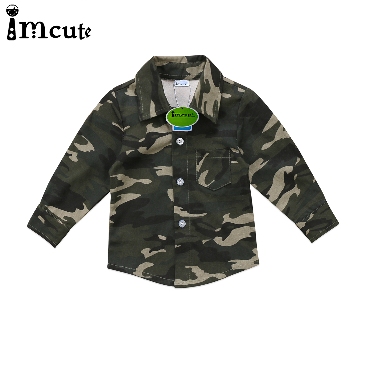 2019 New Hot Sale Latest Fashion Toddler Kids Baby Boys Girls Camouflage   Blouses   Button Tops   Shirt   Long Sleeve   shirt   Clothes